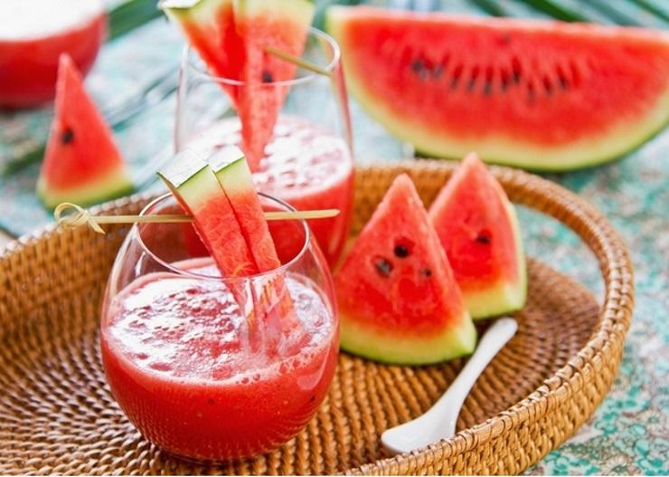 receita de suco de melancia com hortelã